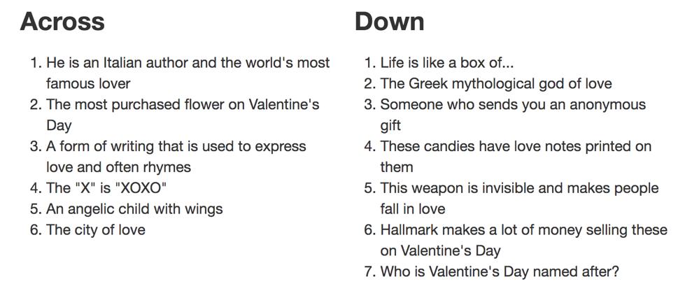crossword questions