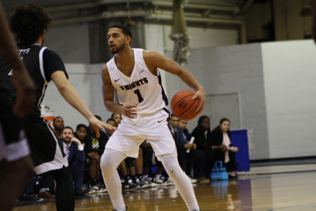 Senior guard Darnell Edge (1) played every minute of Thursday night's home win against LIU Brooklyn, hitting three 3-pointers on his way to 20 points.