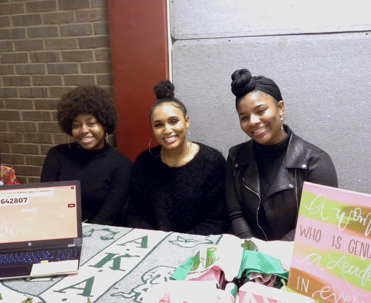 Kimani Lawson, Sophmore; Tatiyana Lofton, senior; Enviasia Mitchell, sophomore.jpg