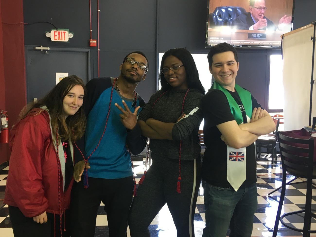 L Carly Edelman, Moufatih Muhammad, Lauren Barrett, R Ryan Modica.JPG