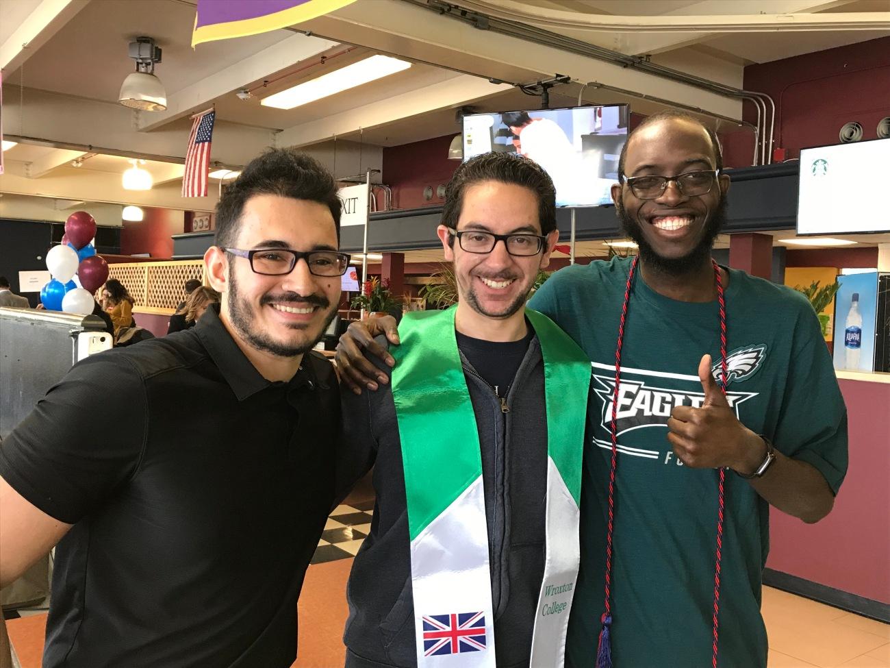 L Kevin Giraldo, Marc Morales, R Ankoma Mitchell.JPG