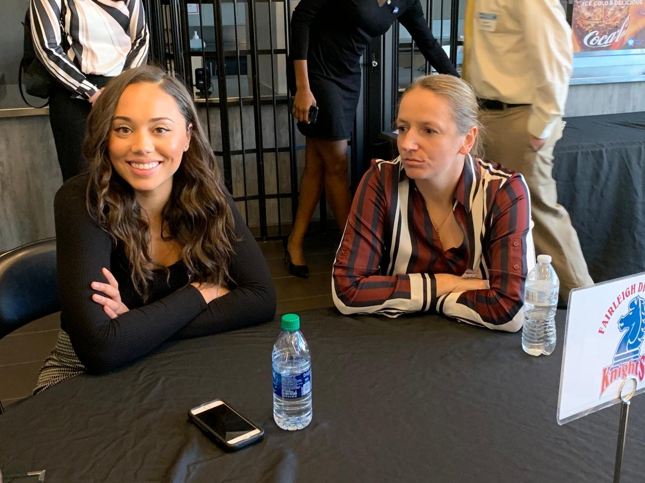 Lauren Francillon and Angelika Szulimo